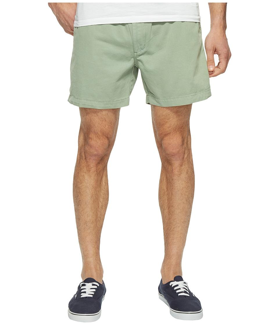 Vintage 1946 Snappers Vintage Washed Elastic Waistband Shorts (Hedge) Men