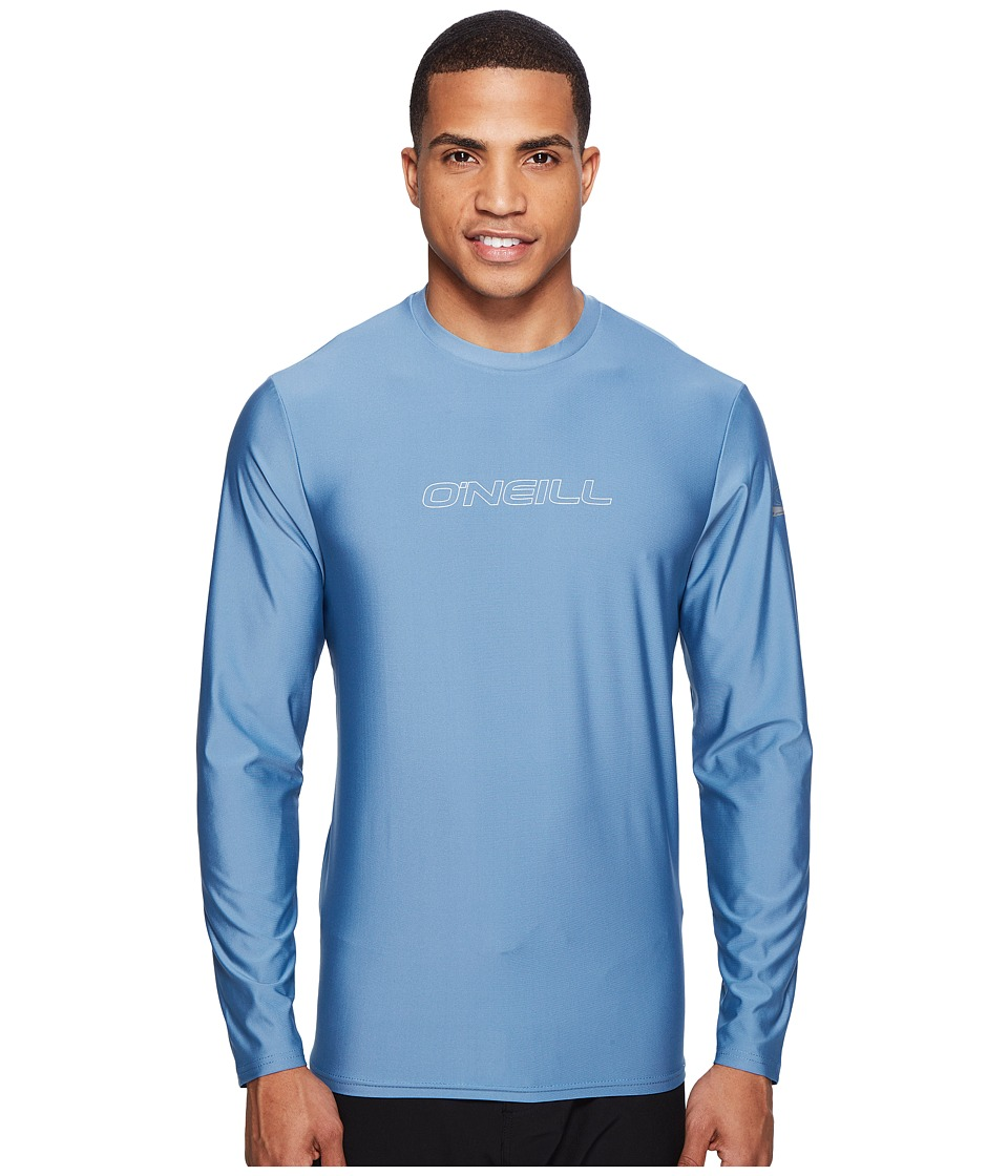 O'Neill - Basic Skins L/S Rash Tee (Dusty Blue) Men's Swimwear