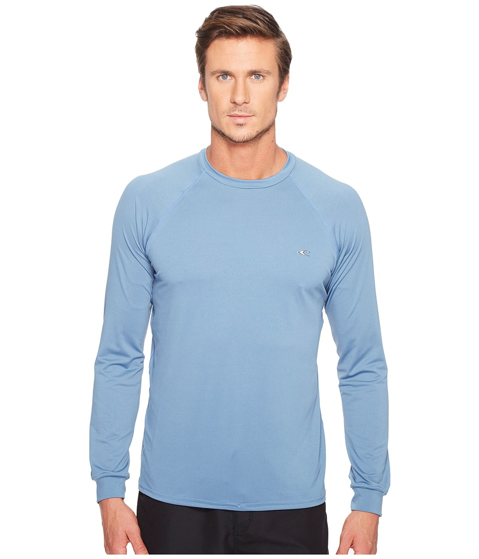 O'Neill - 24-7 Tech Long Sleeve Crew (Dusty Blue/Dusty Blue/Dusty Blue) Men's Swimwear