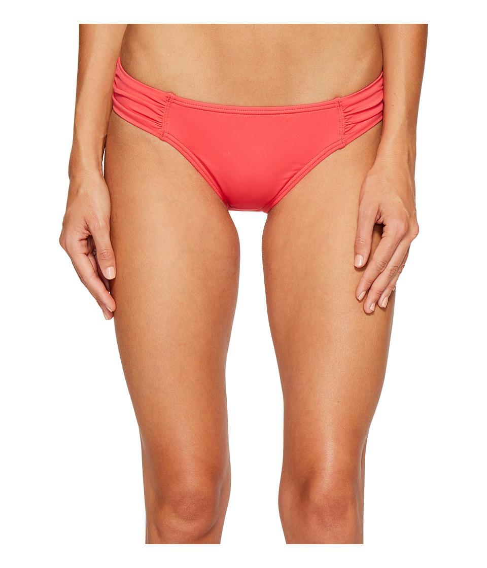 Tommy Bahama Pearl Side-Shirred Hipster Bikini Bottom (Calypso Pink) Women