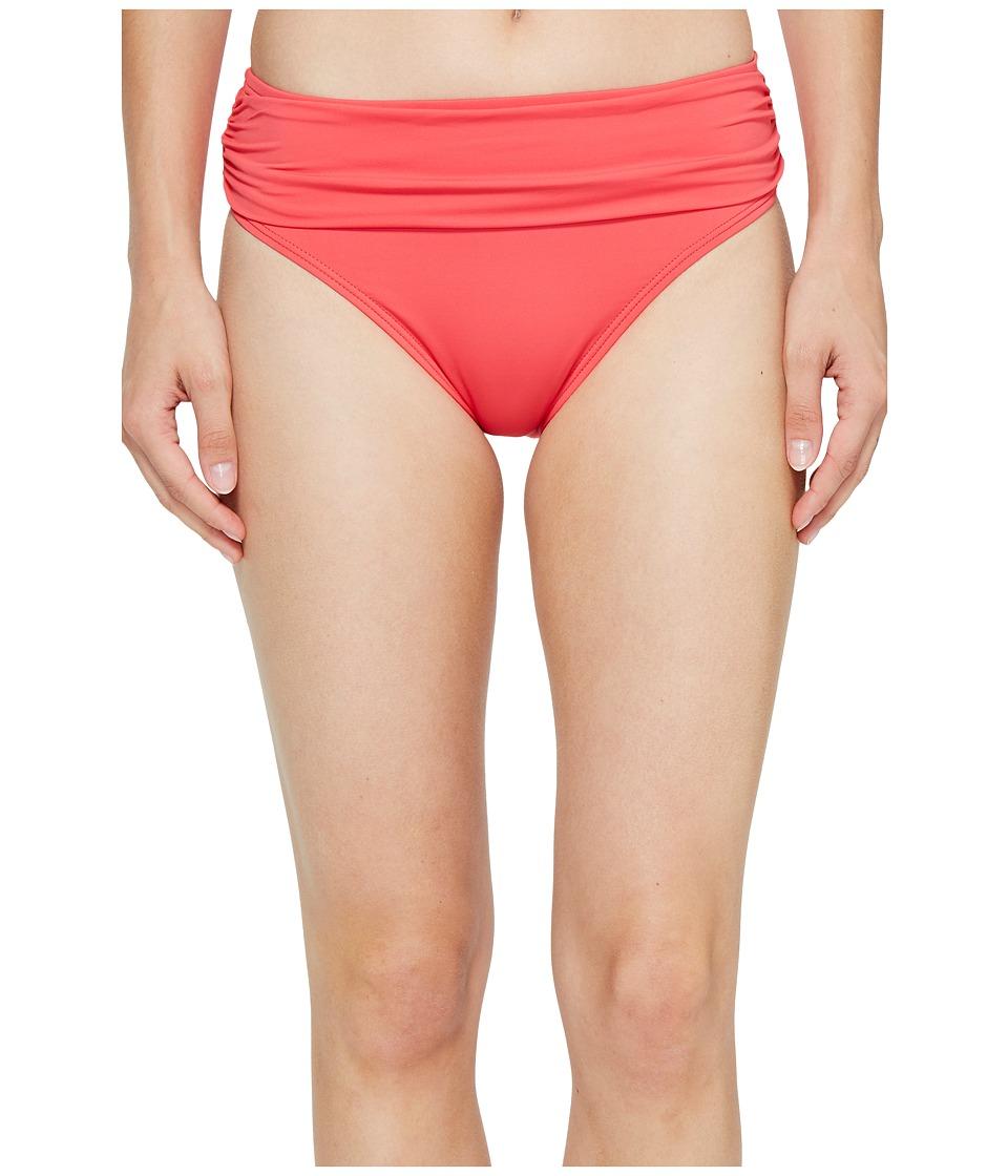 Tommy Bahama - Pearl High-Waist Hipster Bikini Bottom (Calypso Pink) Women's Swimwear