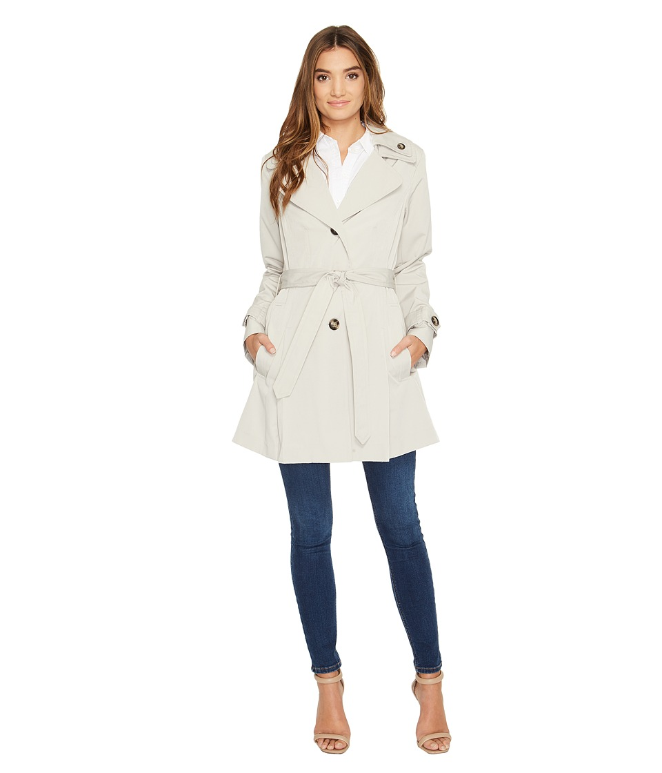 London Fog - Double Collar Trench Coat (Stone) Women's Coat