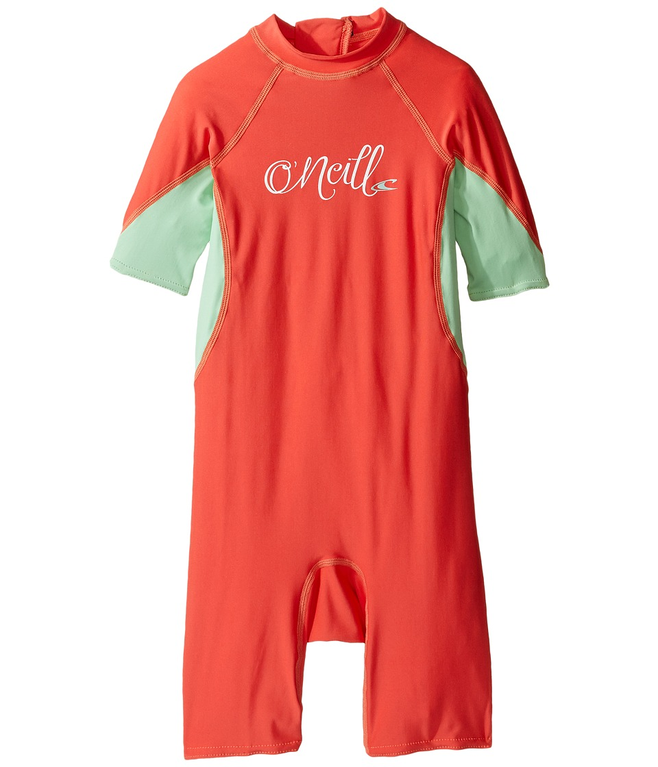 O'Neill Kids - O'Zone UV Spring Wetsuit (Infant/Toddler/Little Kids) (Grapefruit/Mint/White) Kid's Wetsuits One Piece