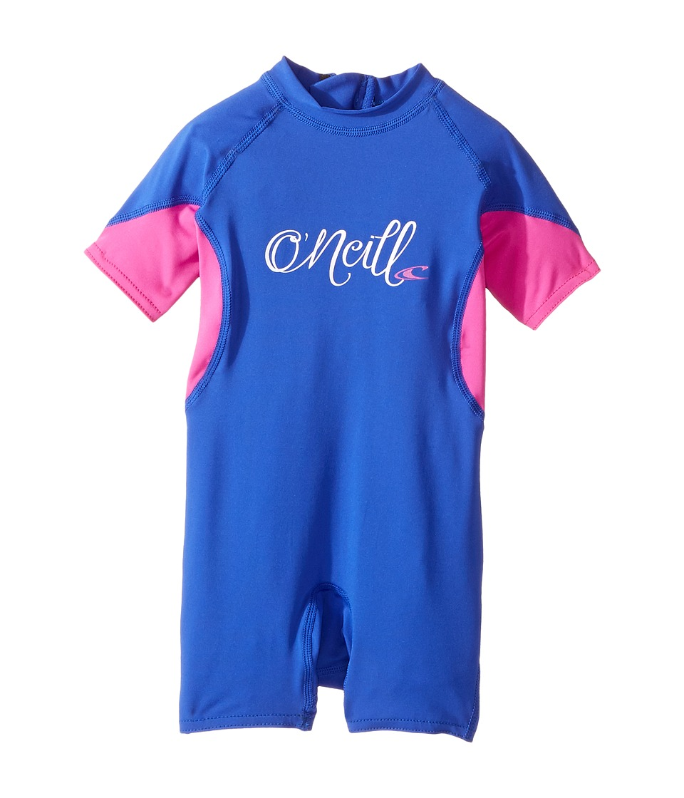 O'Neill Kids - O'Zone UV Spring Wetsuit (Infant/Toddler/Little Kids) (Tahitian Blue/Berry/White) Kid's Wetsuits One Piece