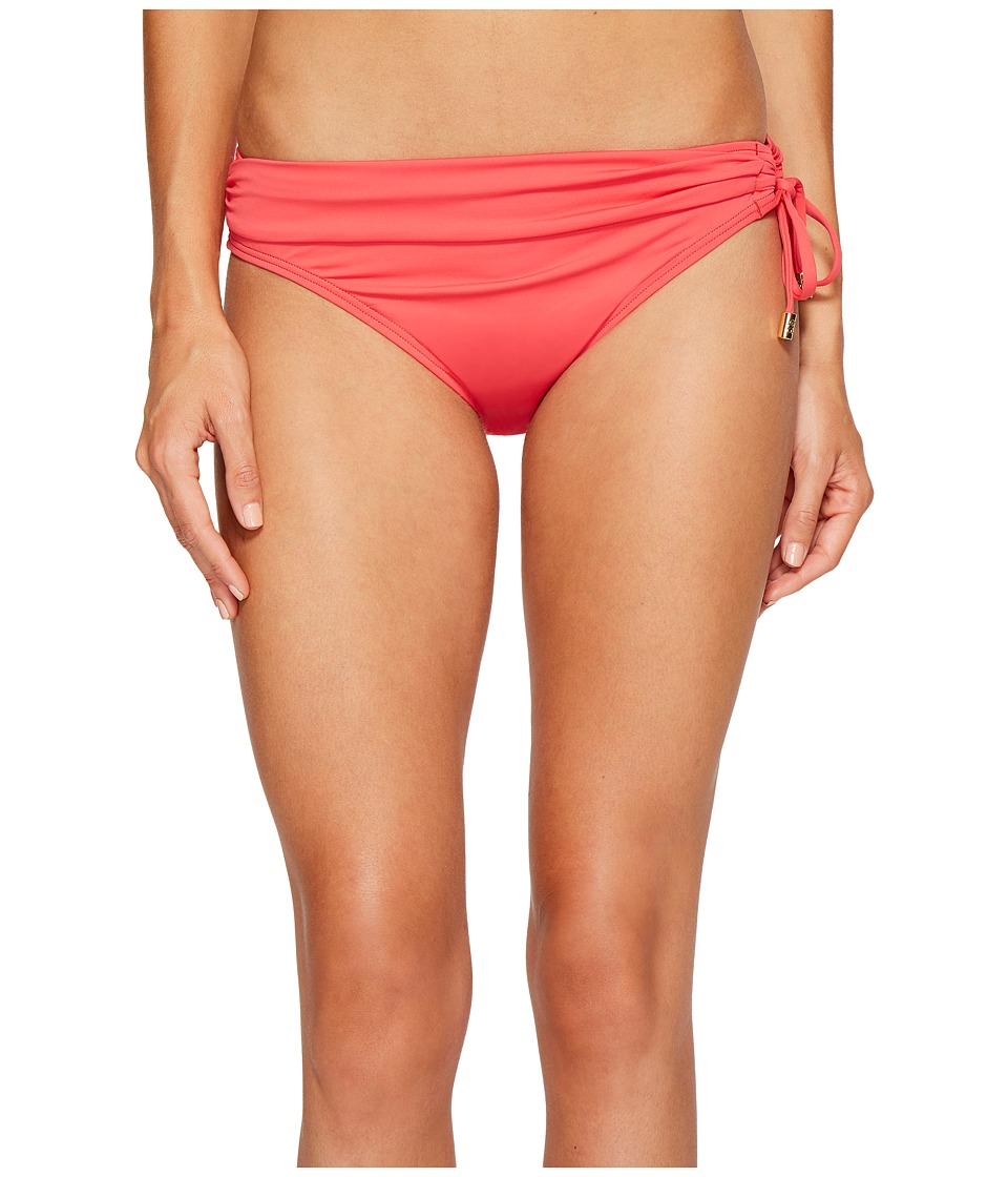 Tommy Bahama Pearl Hipster Bikini Bottom with Ring (Calypso Pink) Women
