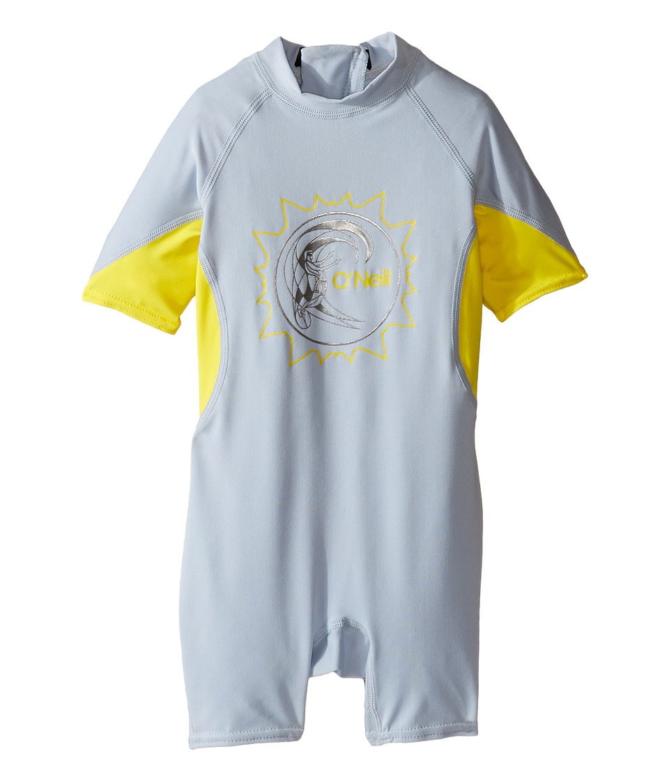 O'Neill Kids - O'Zone UV Spring Wetsuit (Infant/Toddler/Little Kids) (Dusty Blue/Yellow/White) Kid's Wetsuits One Piece