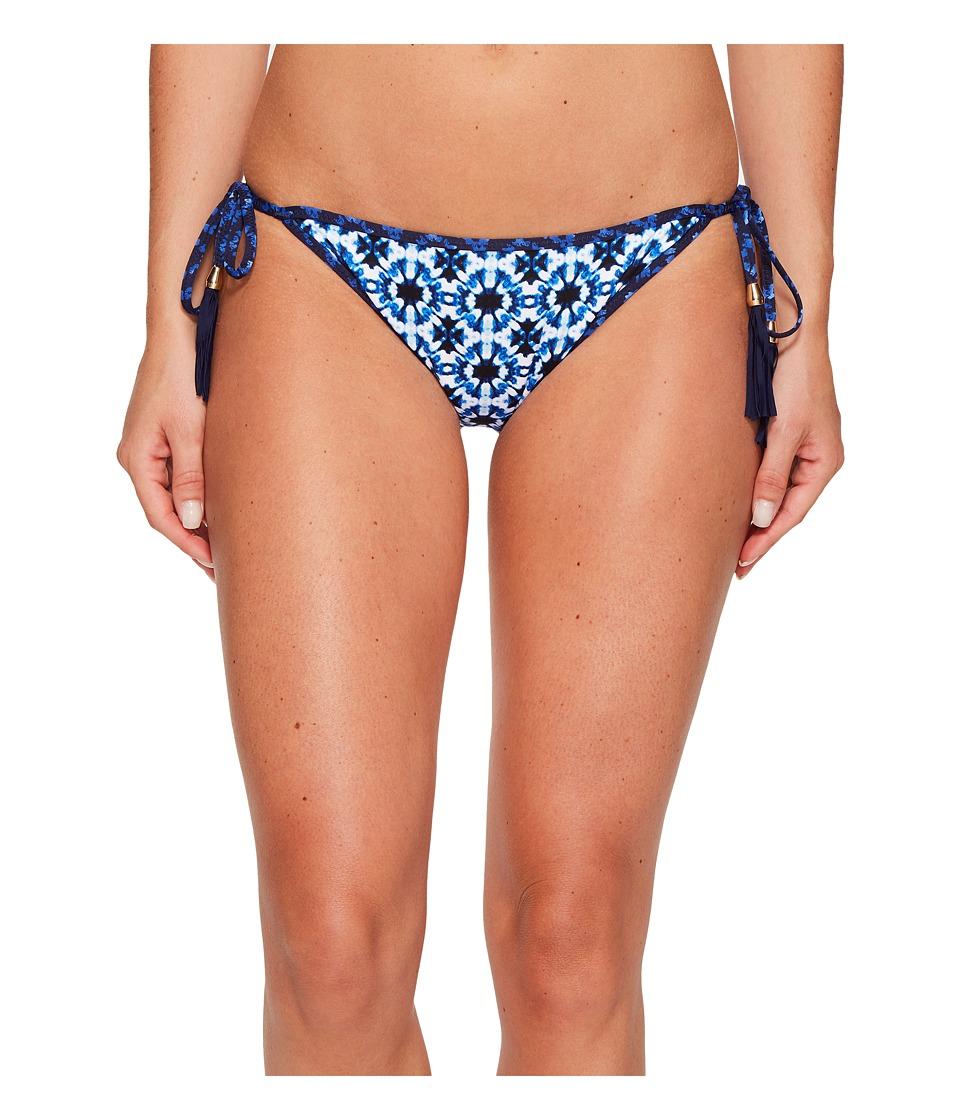 Tommy Bahama Shibori Splash Reversible String Bikini Bottom (Plunge Blue) Women