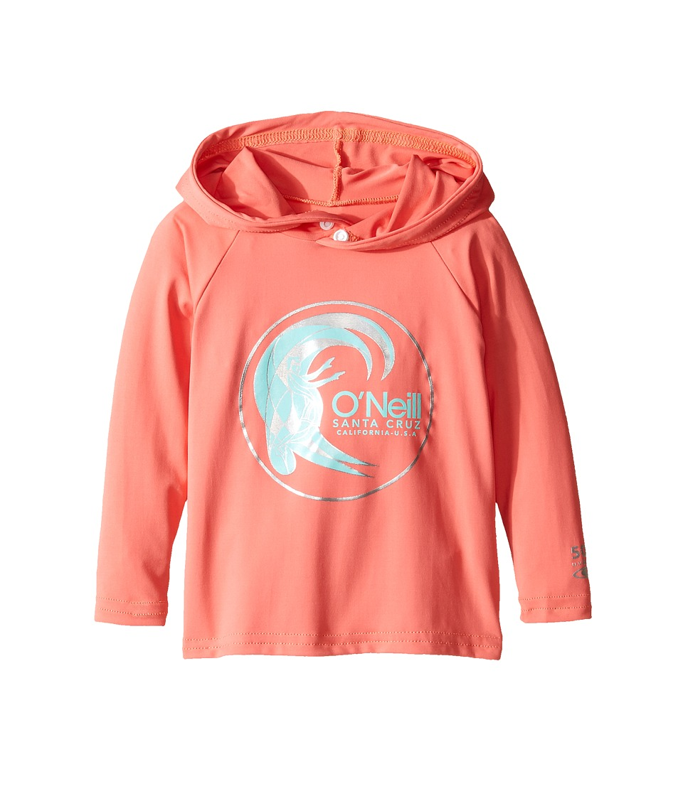 O'Neill Kids - Skins Hoodie (Infant/Toddler/Little Kids) (Coral) Kid's Swimwear