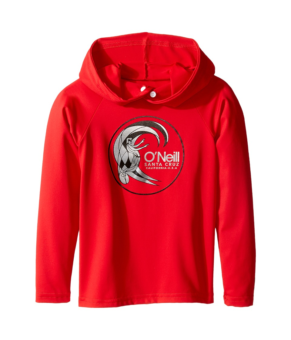 O'Neill Kids - Skins Hoodie (Infant/Toddler/Little Kids) (Red) Kid's Swimwear