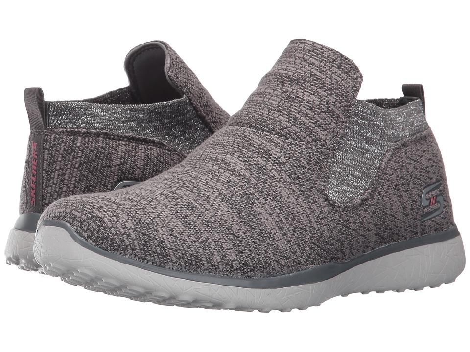 SKECHERS - Microburst - Imagination (Charcoal) Women's Slip on Shoes