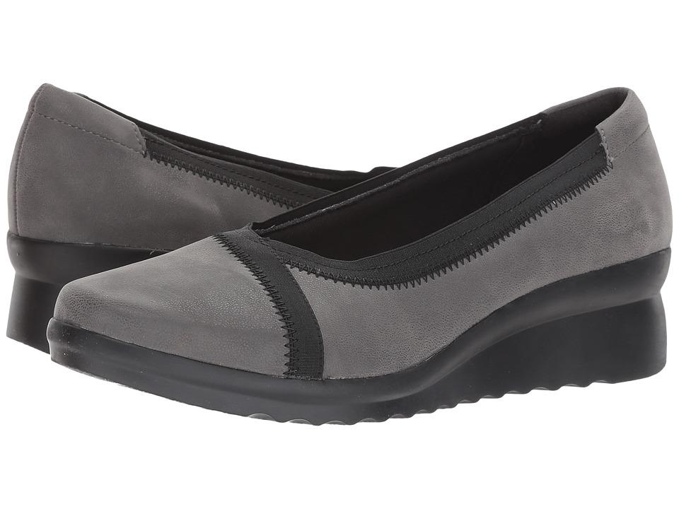 Clarks Caddell Dash (Grey Synthetic Nubuck) Women