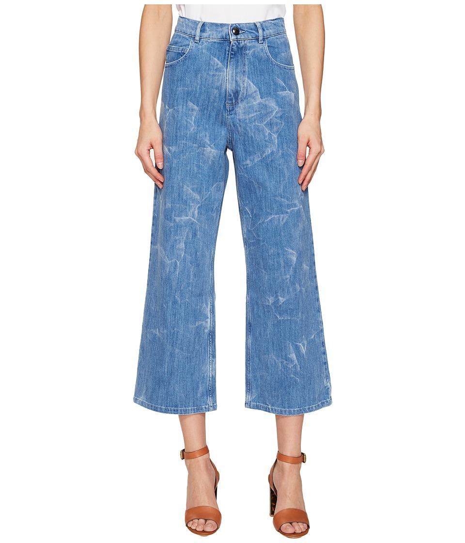 Sonia by Sonia Rykiel - Aqua Printed Blue Denim (Aqua Printed Blue) Women's Jeans