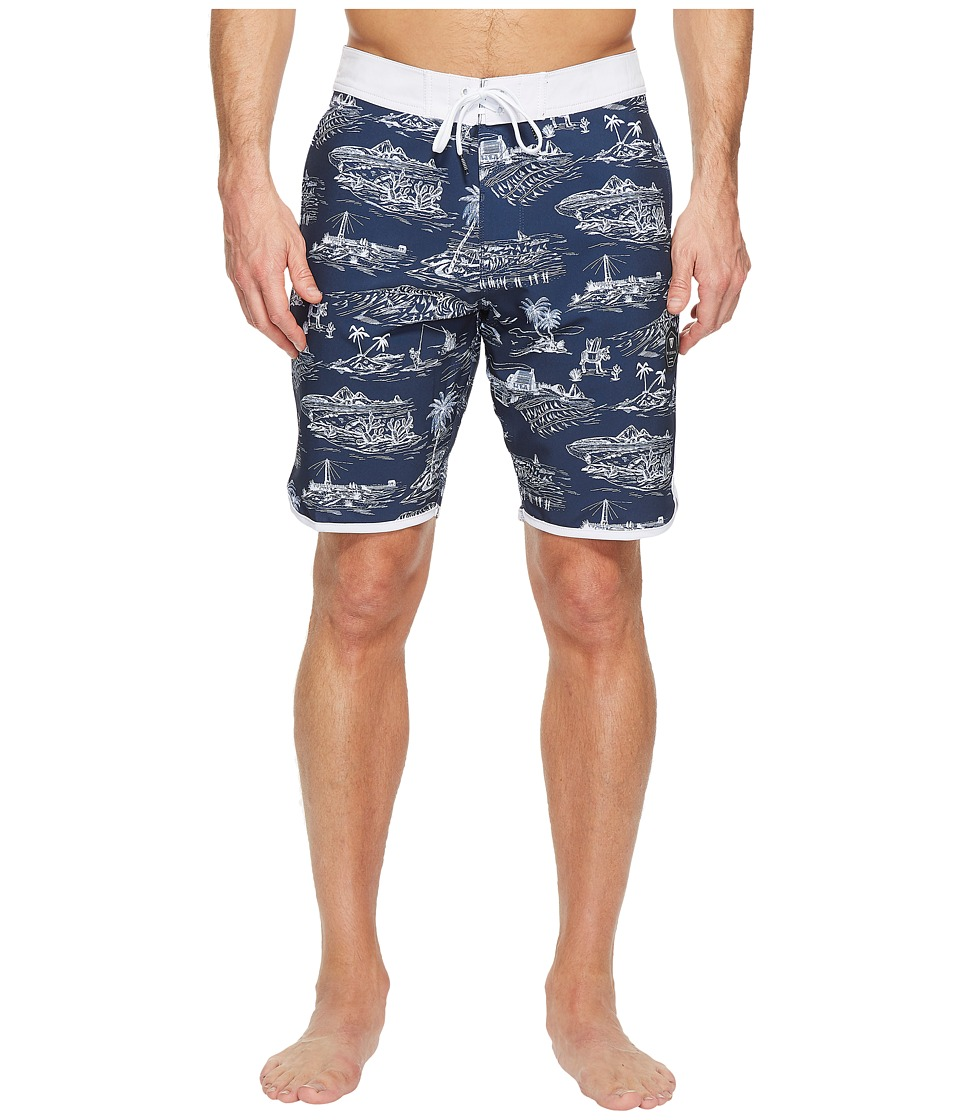 VISSLA - Global Stoke Four-Way Stretch Boardshorts 20 (Dark Navy) Men's Swimwear