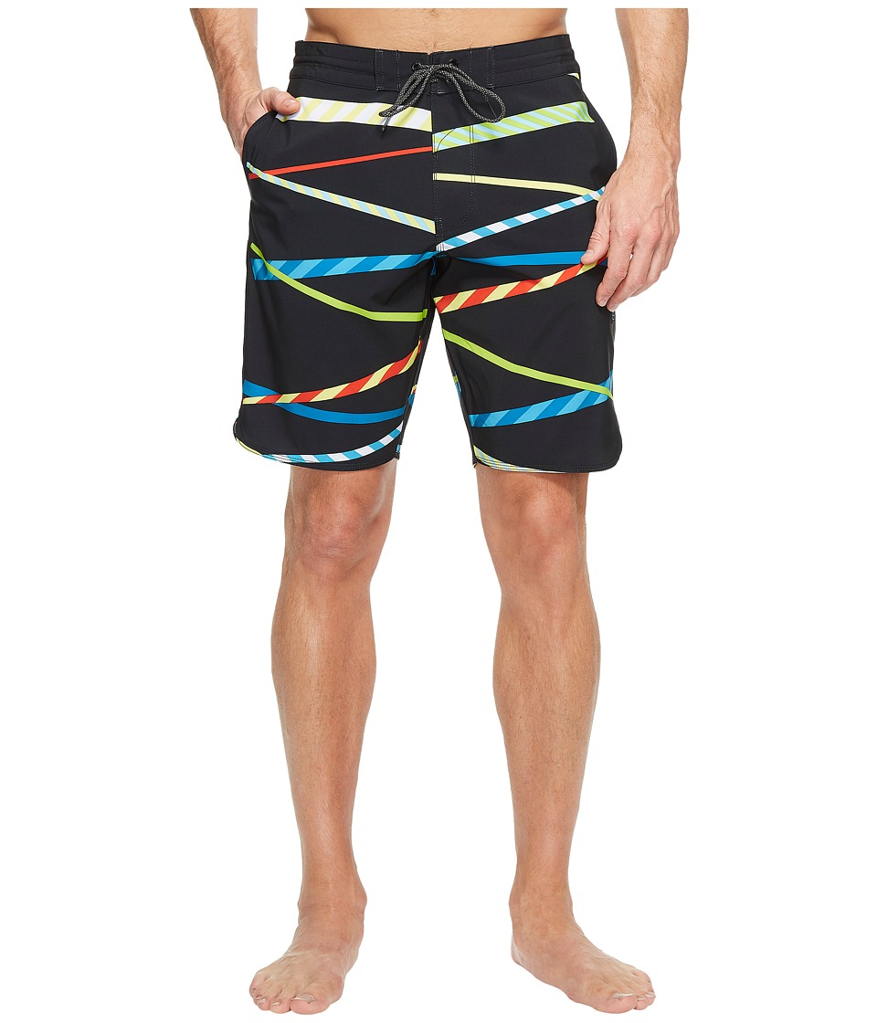 VISSLA - Chop Sticks Four-Way Stretch Boardshorts 20 (Black) Men's Swimwear