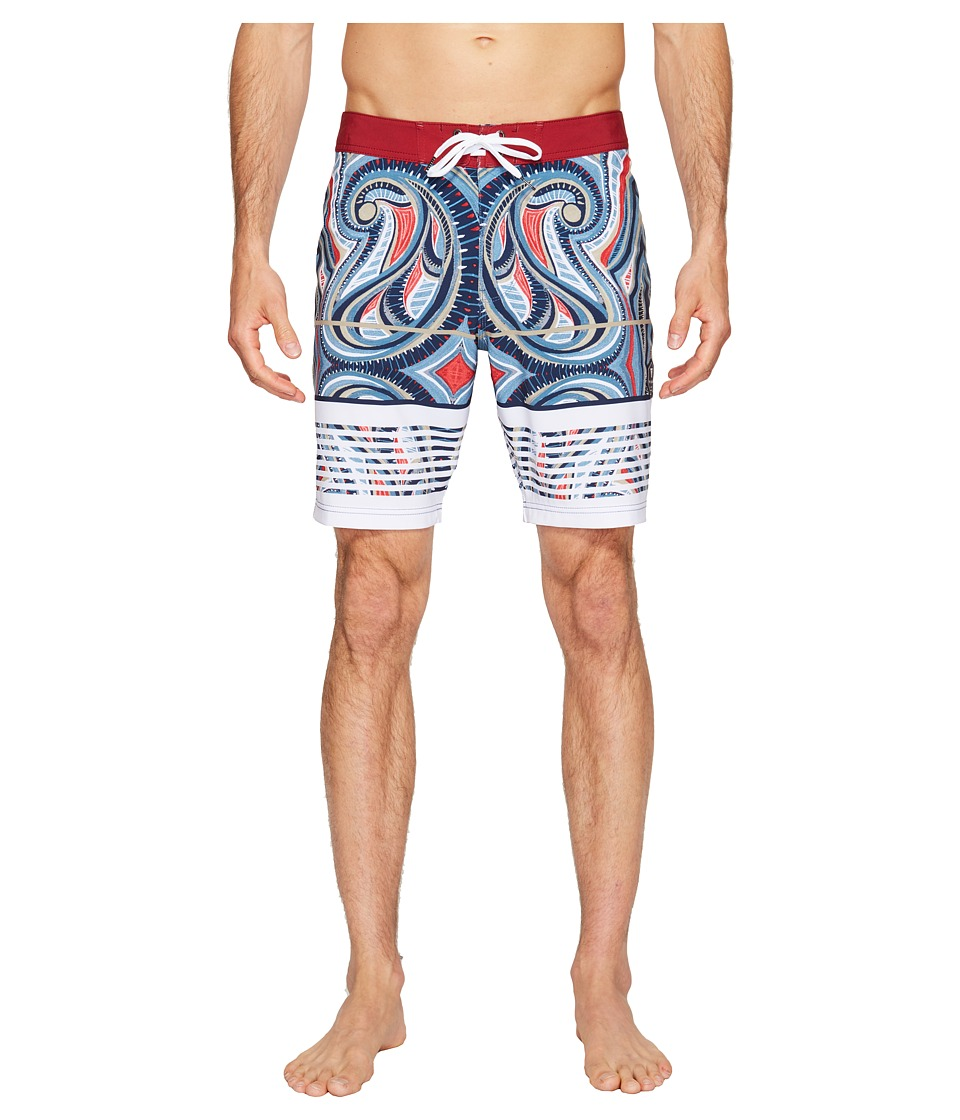 VISSLA Vacancy Reef Four-Way Stretch Boardshorts 18.5 (Sky) Men