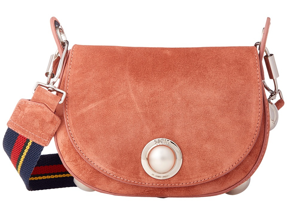 Sonia by Sonia Rykiel - Suede Leather Saddle Bag (Brown Multi) Bags