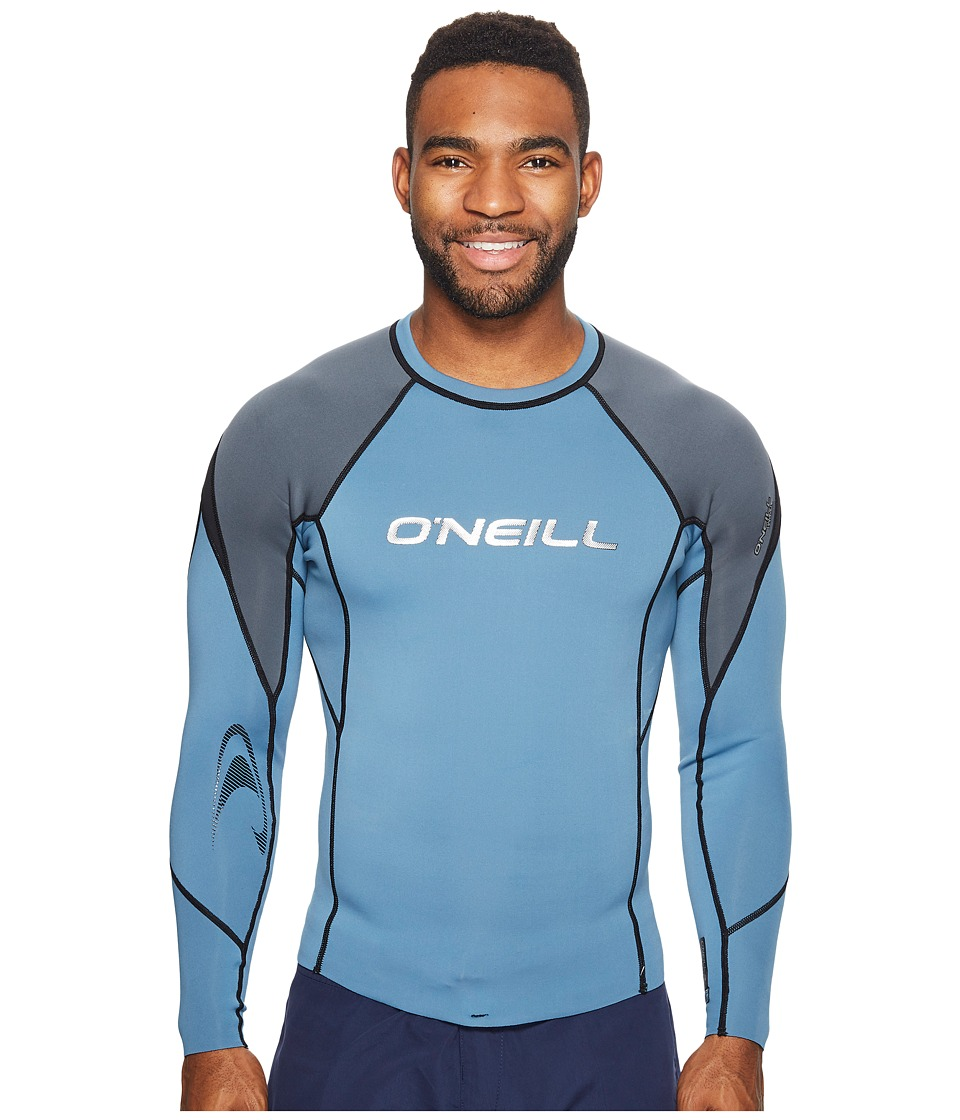 O'Neill - Hammer 0.5mm Long Sleeve Crew (Dusty Blue/Graphite/Black) Men's Swimwear