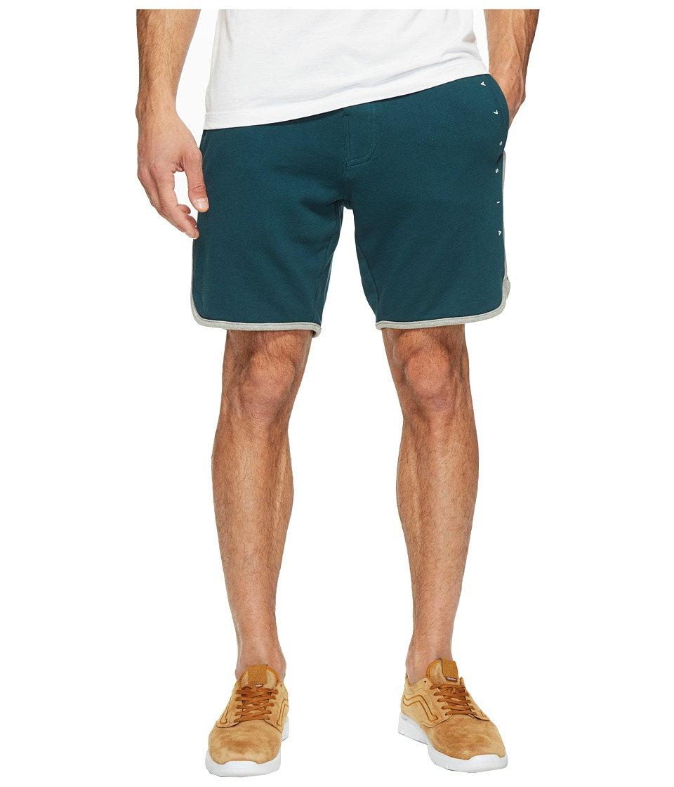 VISSLA - Sofa Surfer Coffee Break Fleece Shorts 18.5 (Dark Teal) Men's Shorts