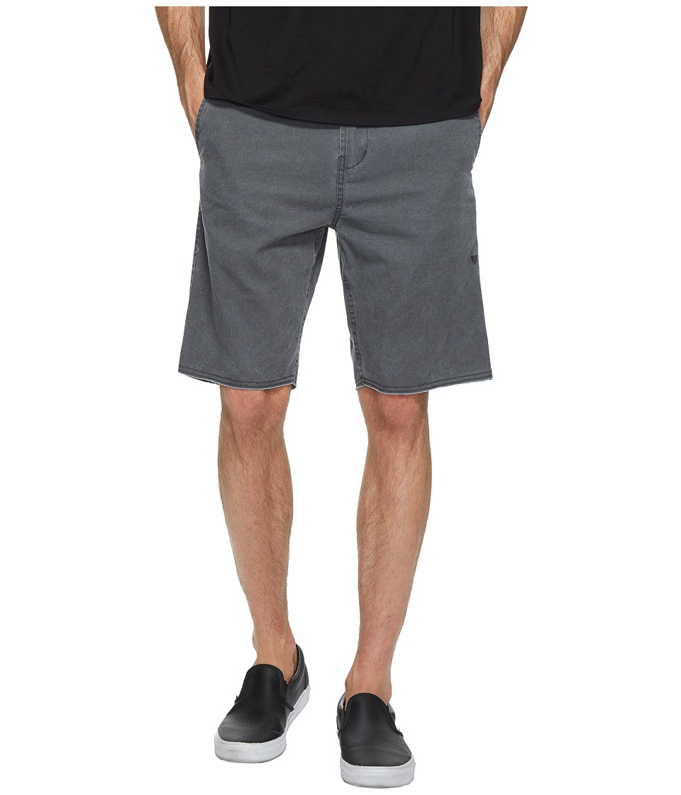 VISSLA - Backyards Pigment Printed Raw Edge Hem Walkshorts 20 (Phantom) Men's Shorts