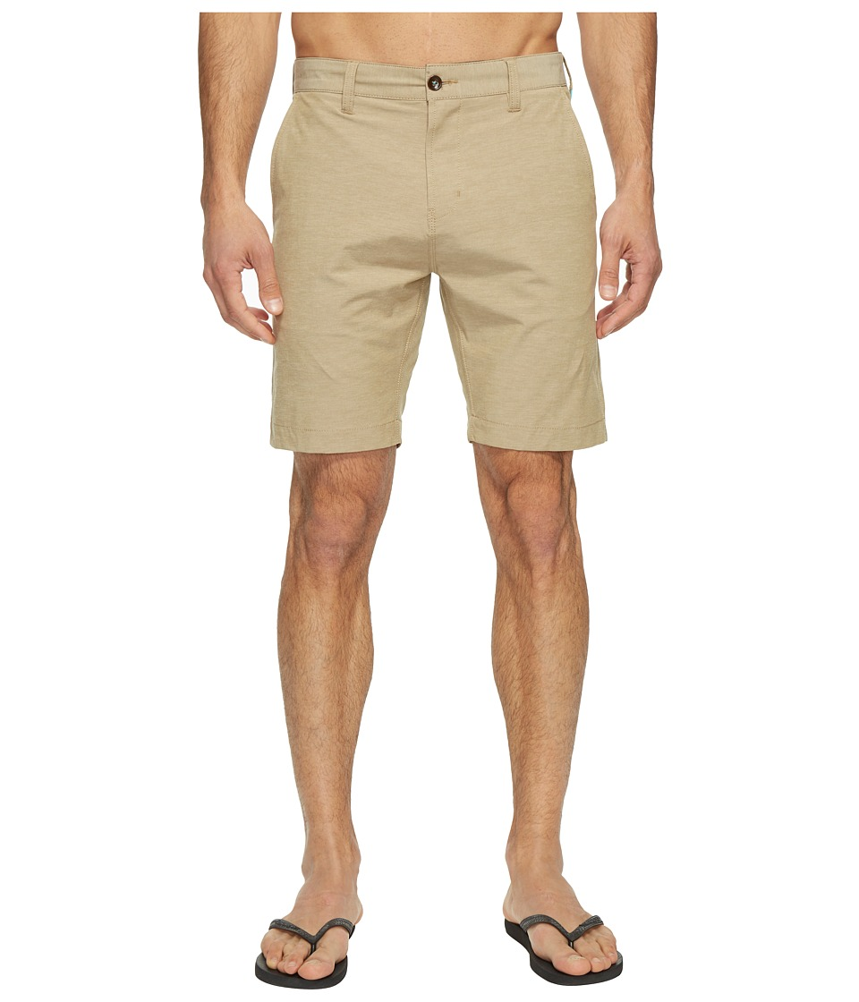 VISSLA - Four Doors Four-Way Stretch Heathered Hybrid Walkshorts 19 (Taupe) Men's Shorts