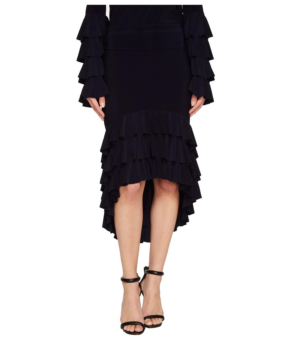 KAMALIKULTURE by Norma Kamali - Ruffle Rhumba Skirt (Midnight) Women's Skirt