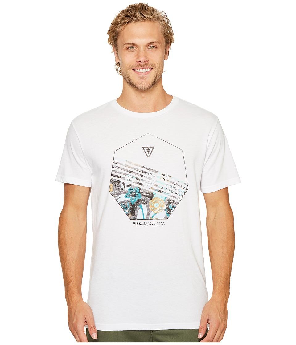 VISSLA - Shark Alley Everyday Heathered Tee (White) Men's T Shirt