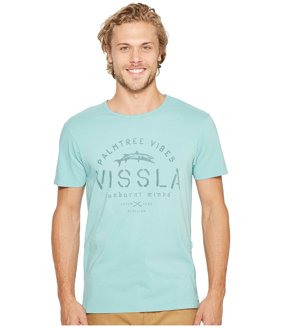 VISSLA - Division Short Sleeve Tee (Jade) Men's T Shirt