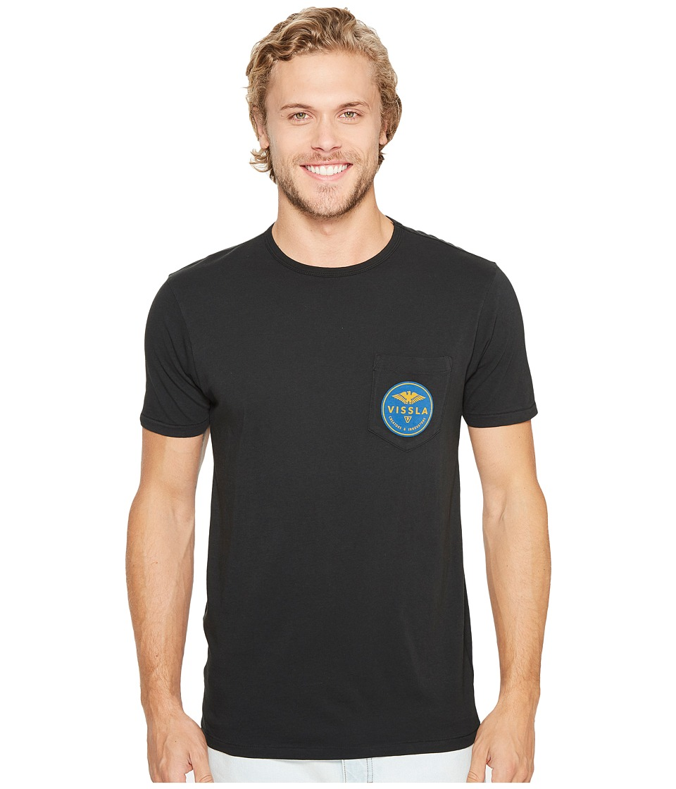 VISSLA - Commando Short Sleeve Tee (Phantom) Men's T Shirt
