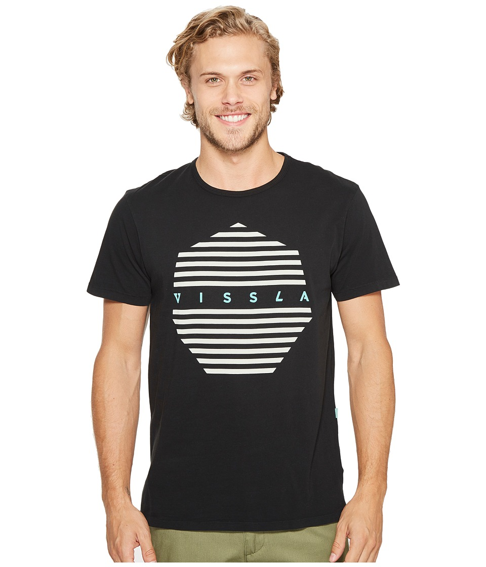 VISSLA - Straight Short Sleeve Tee (Phantom) Men's T Shirt