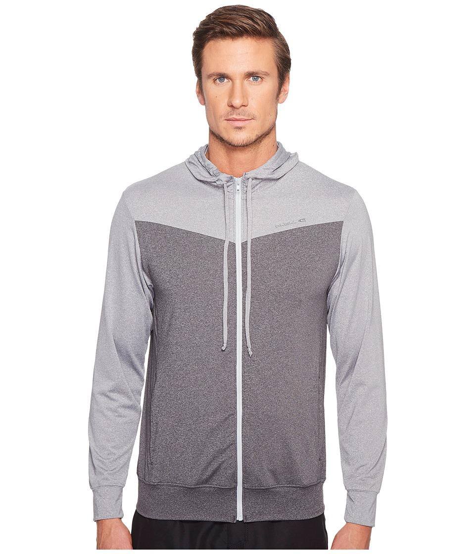 O'Neill - Hybrid Zip Hoodie (Graphite/Cool Grey) Men's Swimwear