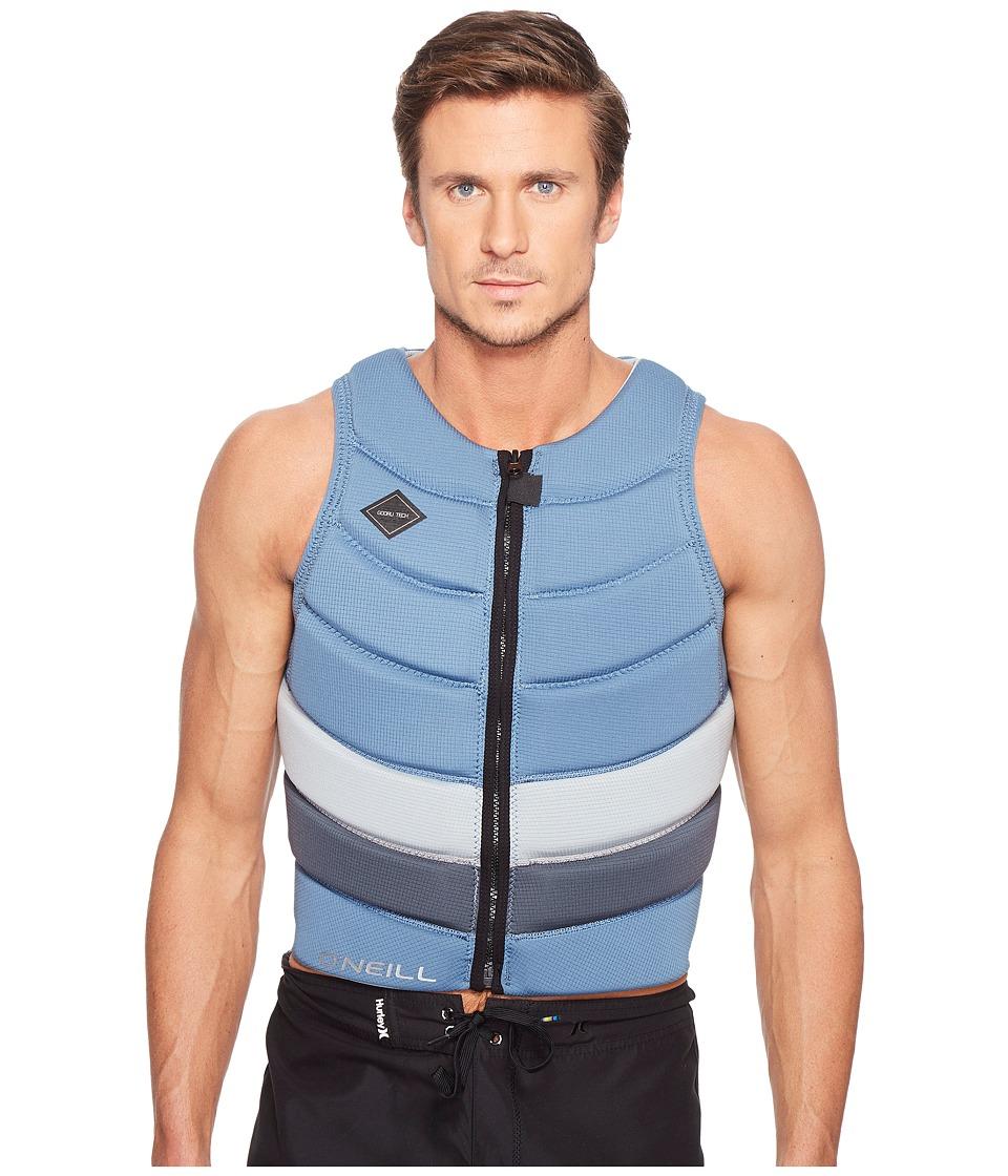O'Neill - Gooru Tech Front Zip Comp Vest (Dusty Blue/Cool Grey/Graphite) Men's Swimwear