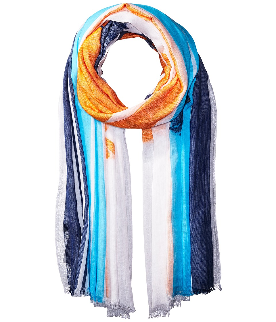 rag & bone - Striped Sunset Scarf (White Multi) Scarves
