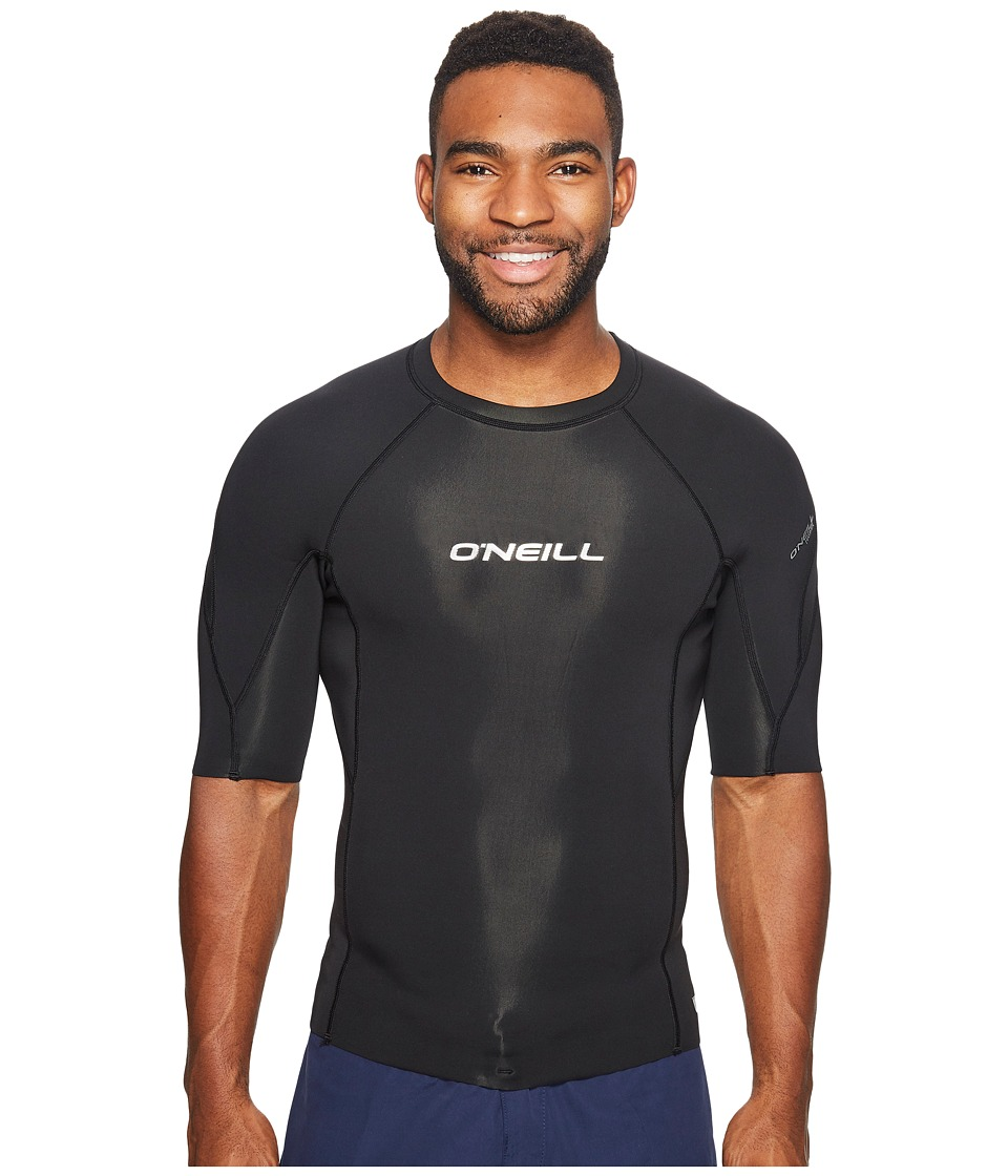 O'Neill - Hammer 1mm Short Sleeve Crew (Cool Grey/Dayglo/Black) Men's Swimwear
