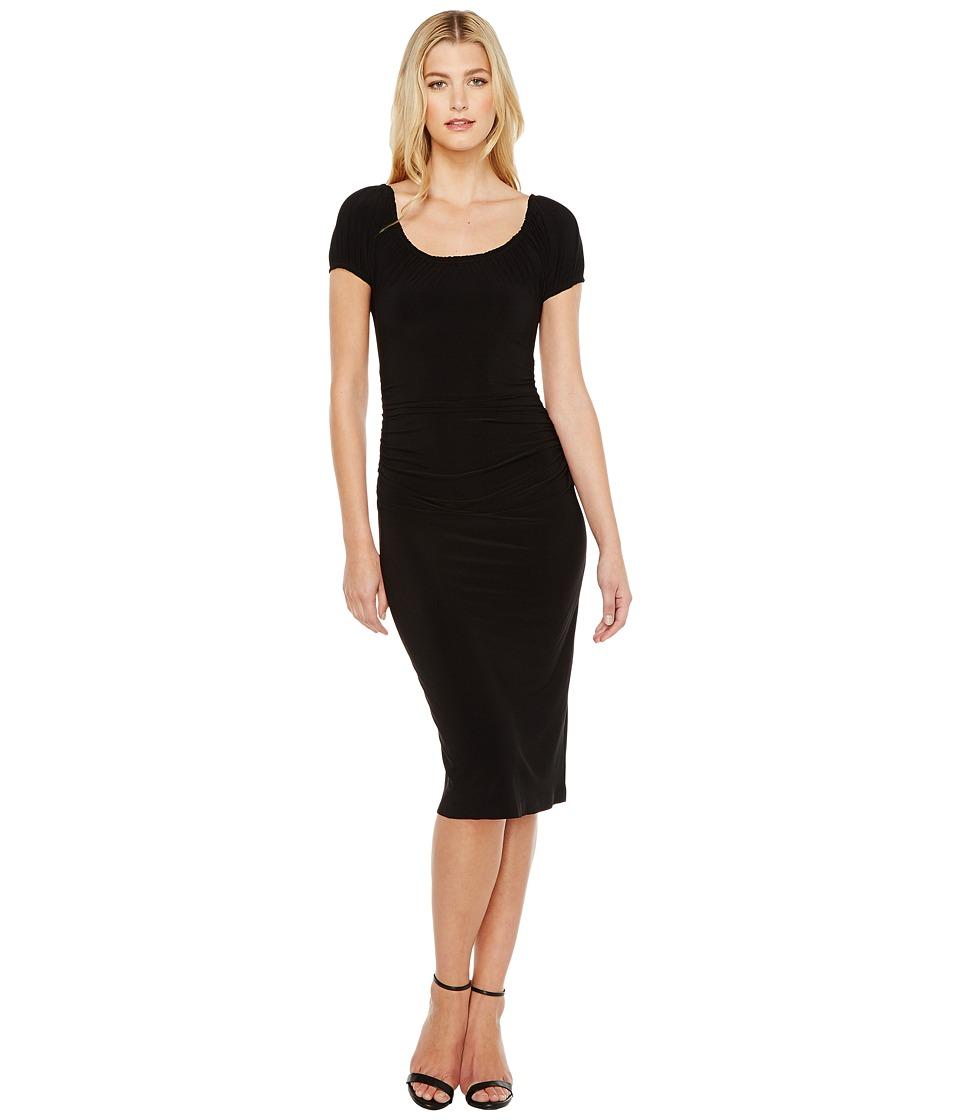 KAMALIKULTURE by Norma Kamali - Sophia Shirred Waist Dress (Black) Women's Dress
