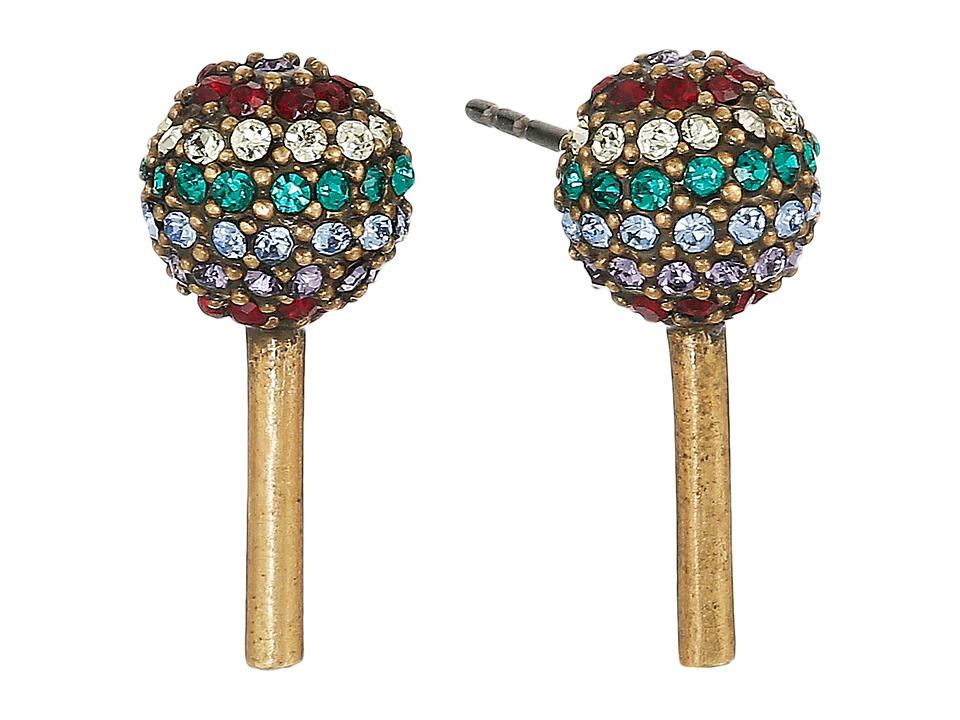 Marc Jacobs - Lollipop Studs Earrings (Antique Gold) Earring