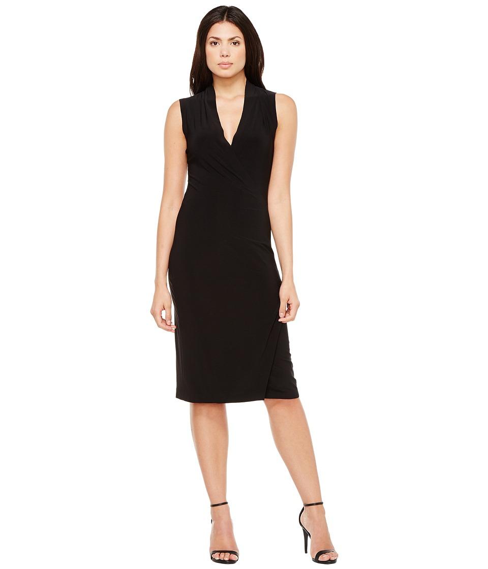 KAMALIKULTURE by Norma Kamali - Sleeveless Side Draped Dress (Black) Women's Dress