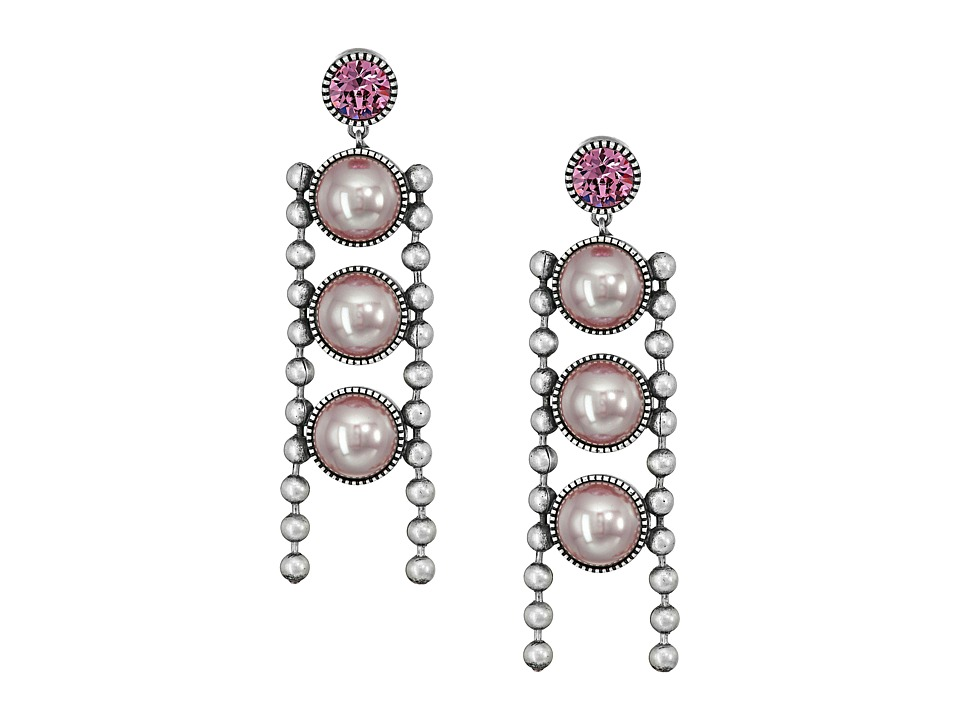 Marc Jacobs - Ball Chain Pearl Earrings (Blush Rose Multi) Earring