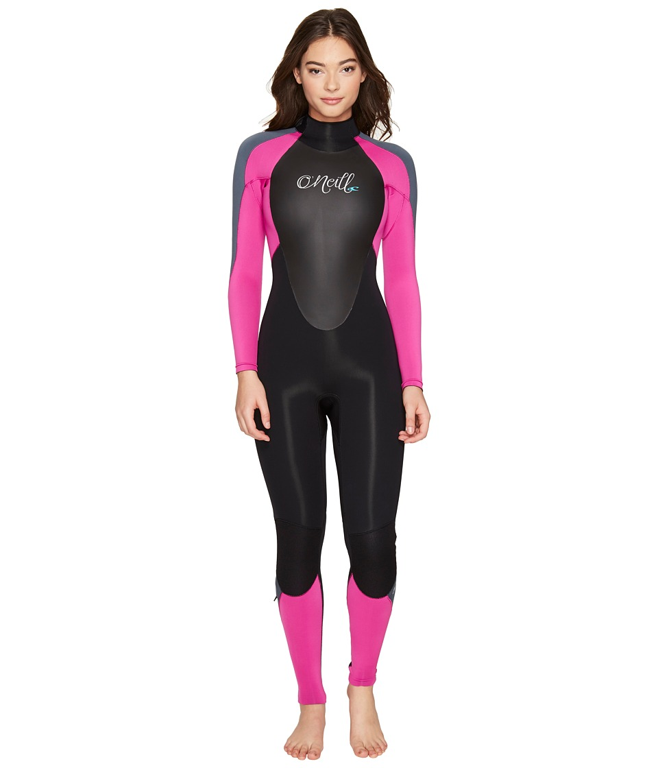 O'Neill - Epic 3/2MM Wetsuit (Black/Berry/Graphite) Women's Wetsuits One Piece