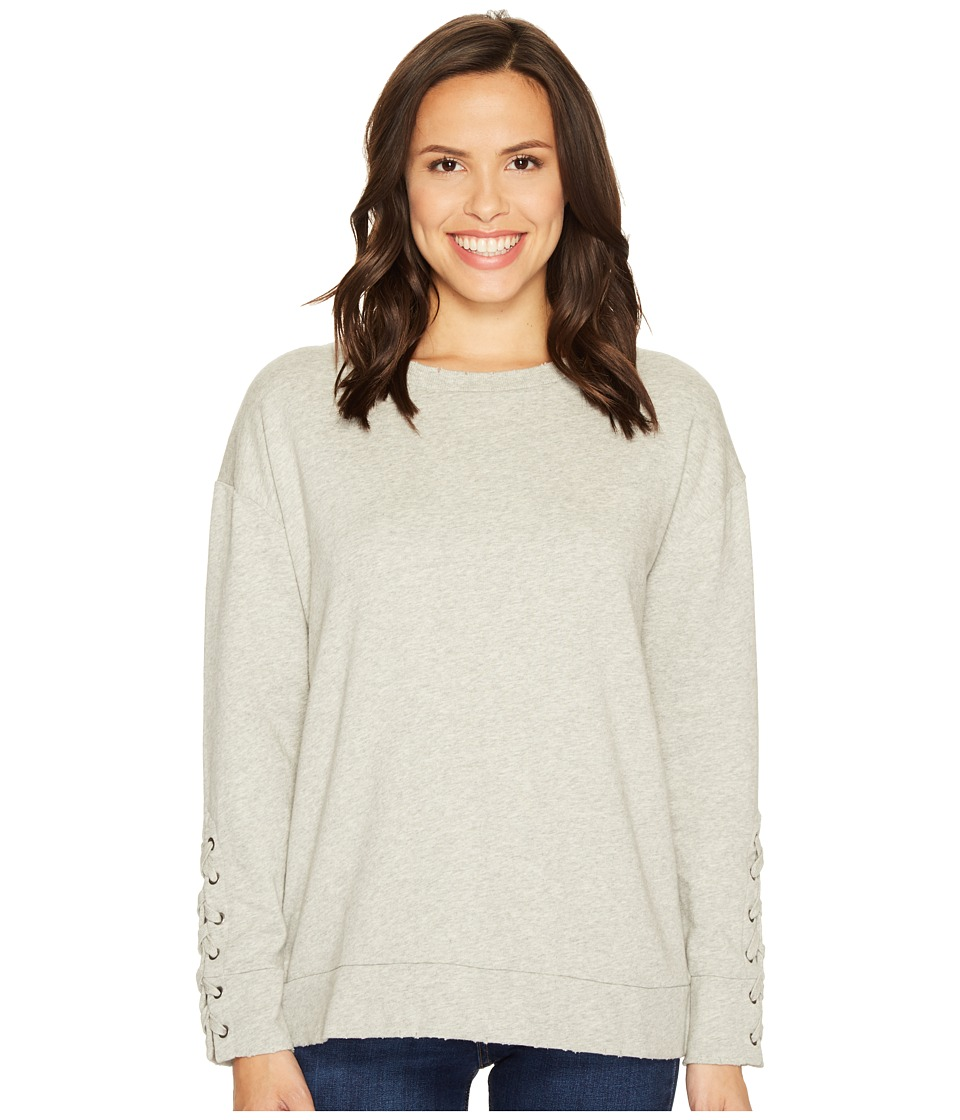 Joe's Jeans - Miaya Lace-Up Pullover (Heather Grey) Women's Clothing