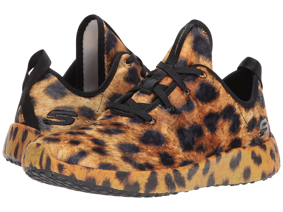 SKECHERS - Burst - Hit The Town (Leopard) Women's Lace up casual Shoes