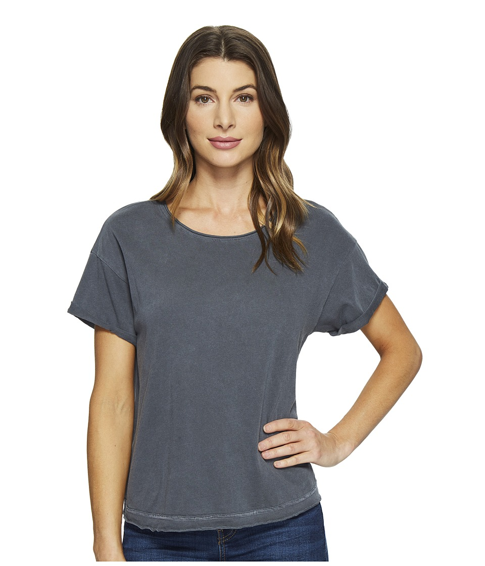 Joe's Jeans - Hunter Crop Tee (Black Smoke) Women's T Shirt