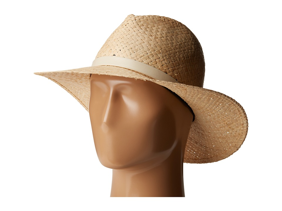 rag & bone - Raffia Wide Brim Hat (Natural Raffia) Traditional Hats