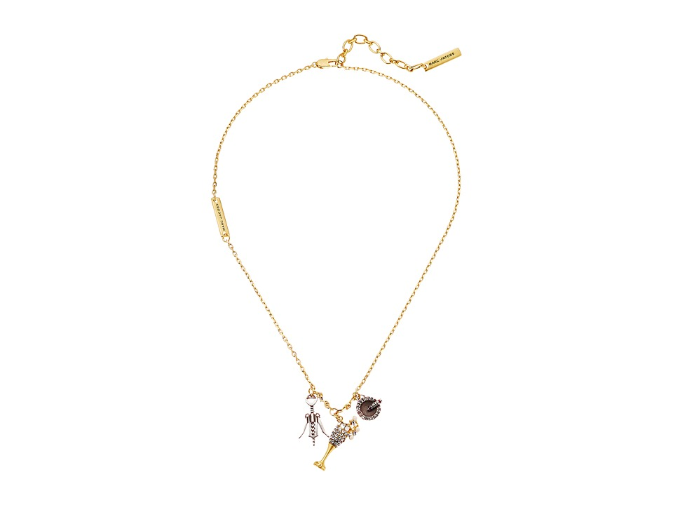 Marc Jacobs - Champagne Party Necklace (Antique Gold) Necklace