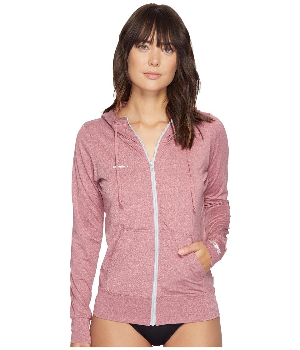 O'Neill - 24-7 Hybrid Zip Hoodie (Mesa Rose) Women's Sweatshirt