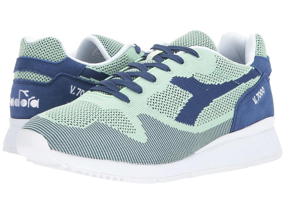 Diadora V7000 Weave (Blue Limoges/Verde Frassin) Athletic Shoes