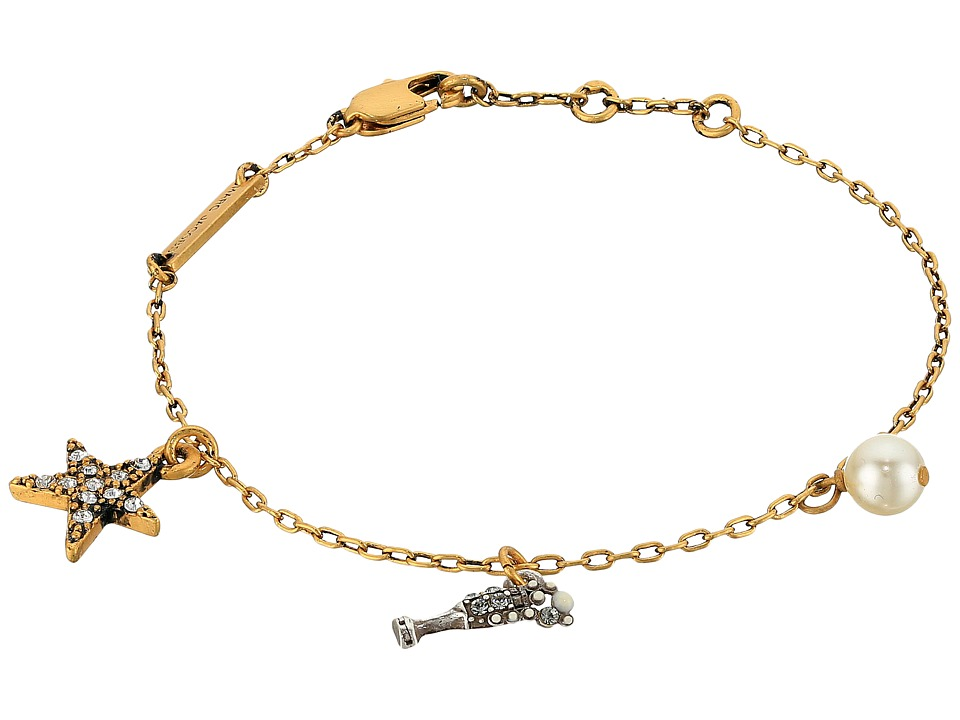 Marc Jacobs - Champagne Flute Chain Bracelet (Antique Gold) Bracelet