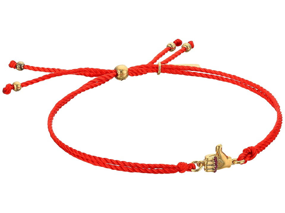 Marc Jacobs - Something Special Thumbs Up Friendship Bracelet (Gold) Bracelet