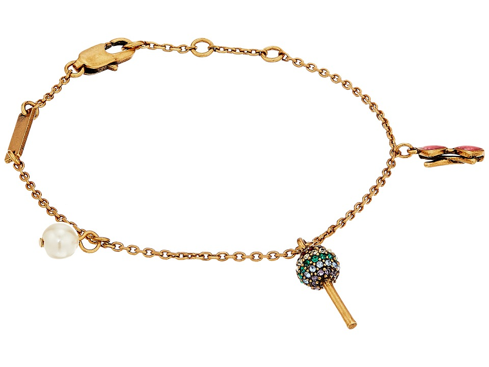 Marc Jacobs - Lolli Charm Bracelet (Antique Gold) Charms Bracelet