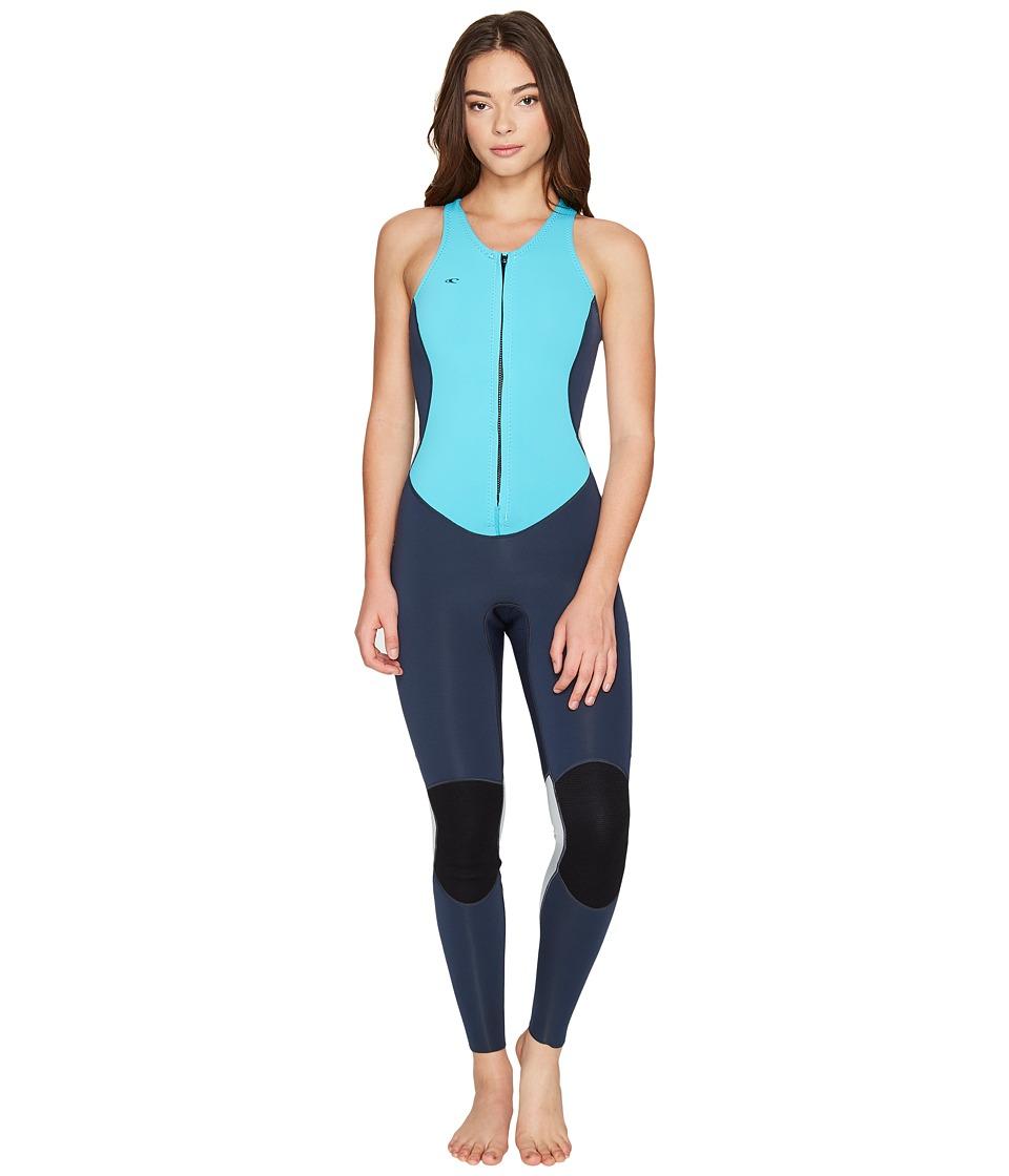 O'Neill - Bahia Jane (Slate/Lite Aqua/Cool Grey) Women's Wetsuits One Piece