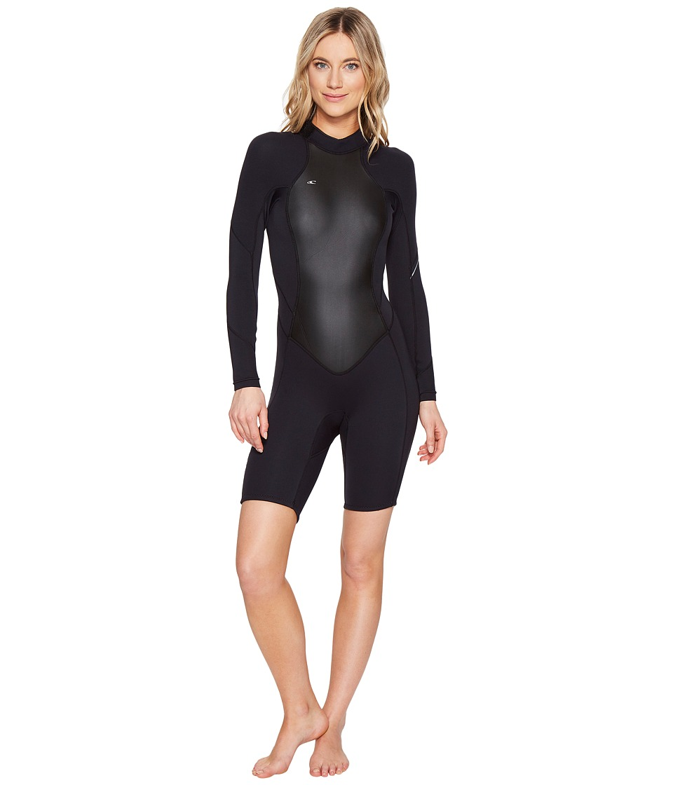 O'Neill - Bahia Long Sleeve Spring (Black/Black/Black) Women's Wetsuits One Piece